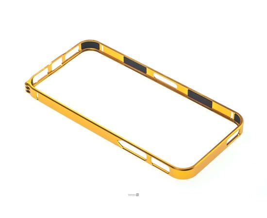 Чехол-бампер для iPhone 5/5S Cross-Line Aluminum Ultra Thin Bumper 0.7 mm (Gold), фото , изображение 3