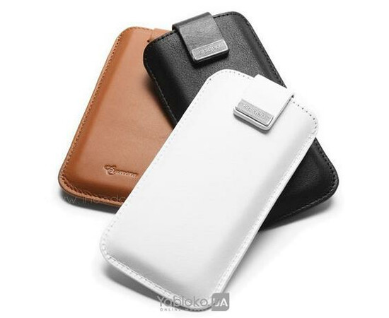 Чехол для iPhone 5/5S/SE SGP Leather pouch Crumena White (SGP09513), фото , изображение 3