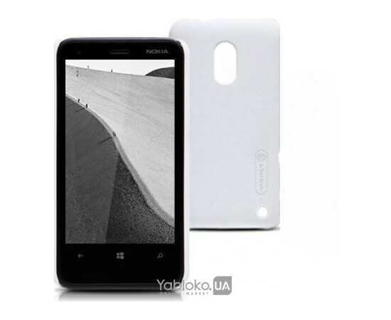 Чехол для Nokia Lumia 620 Nillkin Super Shield (White), фото , изображение 3