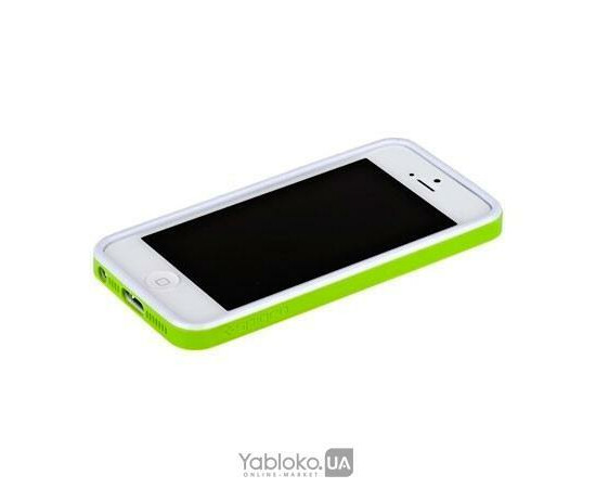 Чехол-бампер Aplove for iPhone 5 (White/Green), фото , изображение 3