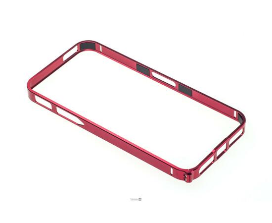 Чехол-бампер для iPhone 5/5S Cross-Line Aluminum Ultra Thin Bumper 0.7 mm (Red), фото , изображение 3