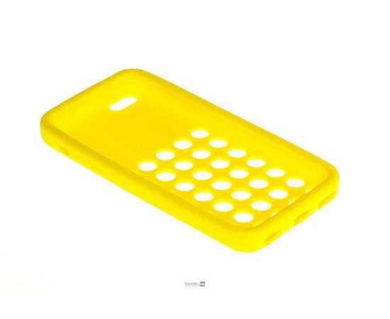 Чехол для iPhone 5C Silicon Back Cover Soft Skin Case (Yellow), фото , изображение 3