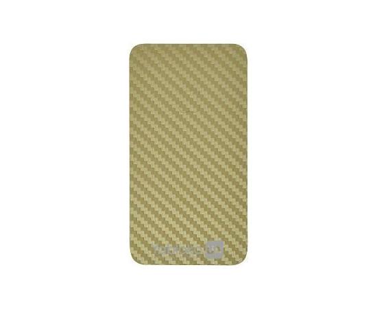 Карбоновая наклейка для  iPhone 4/4S GSW (Gold), фото , изображение 3