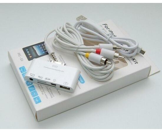 Переходник для iPad Connection kit with AV output (White) комплектация