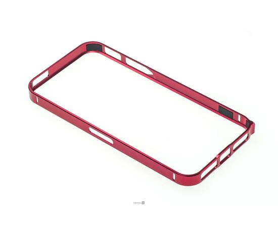 Чехол-бампер для iPhone 5/5S Cross-Line Aluminum Ultra Thin Bumper 0.7 mm (Red), фото , изображение 4