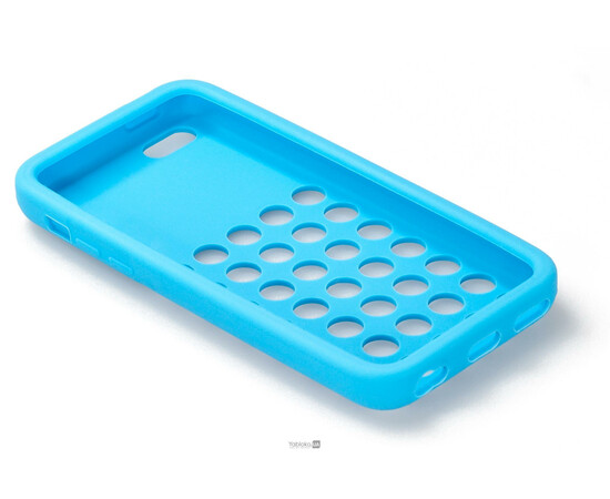 Чехол для iPhone 5C Silicon Back Cover Soft Skin Case (Blue), фото , изображение 4