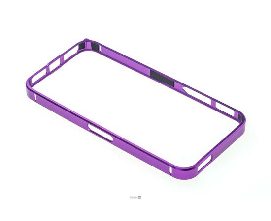Чехол-бампер для iPhone 5/5S/SE Cross-Line Aluminum Ultra Thin Bumper 0.7 mm (Purple), фото , изображение 4