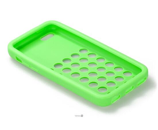 Чехол для iPhone 5C Silicon Back Cover Soft Skin Case (Green), фото , изображение 4
