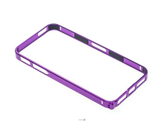 Чехол-бампер для iPhone 5/5S/SE Cross-Line Aluminum Ultra Thin Bumper 0.7 mm (Purple), фото , изображение 5
