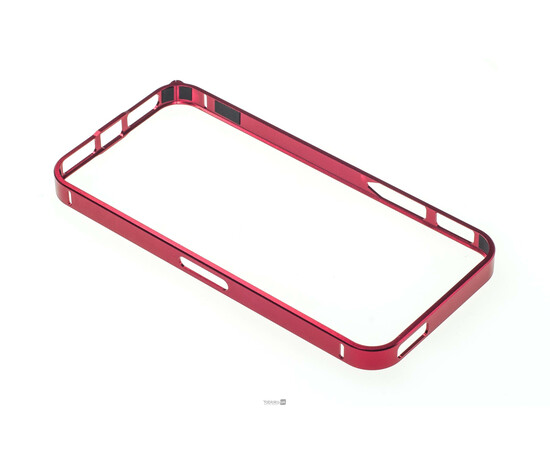 Чехол-бампер для iPhone 5/5S Cross-Line Aluminum Ultra Thin Bumper 0.7 mm (Red), фото , изображение 5