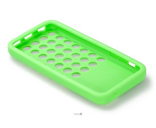 Чехол для iPhone 5C Silicon Back Cover Soft Skin Case (Green), фото , изображение 5