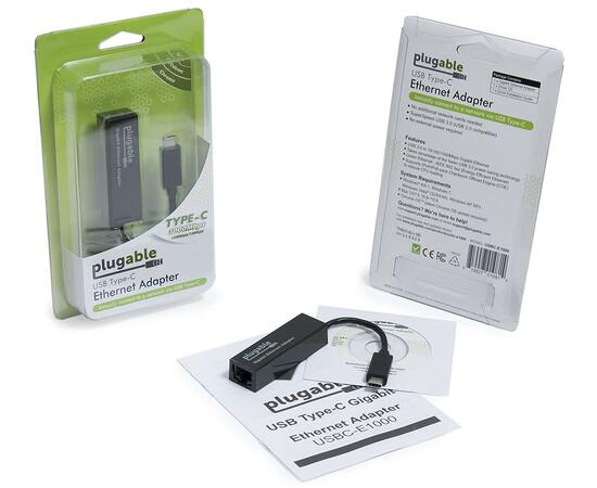 Адаптер Plugable Ethernet LAN Network Adapter вид упаковки