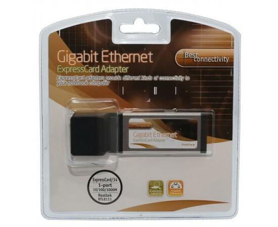 Адаптер Realtek RTL8111 ExpressCard 1000Mbps Network Ethernet Port, фото , изображение 6