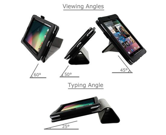 Обложка для Amazon Kindle Fire HD roocase Origami Dual-View Folio (Black), фото , изображение 9