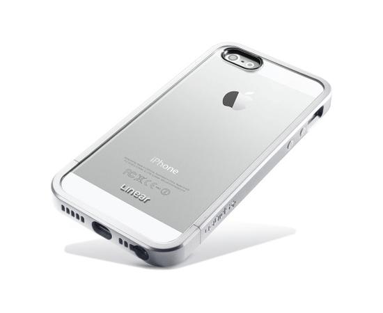 Чехол-бампер для iPhone 5/5S/SE SGP Case Linear Metal Crystal (Satin Silver) SGP10046, фото , изображение 2