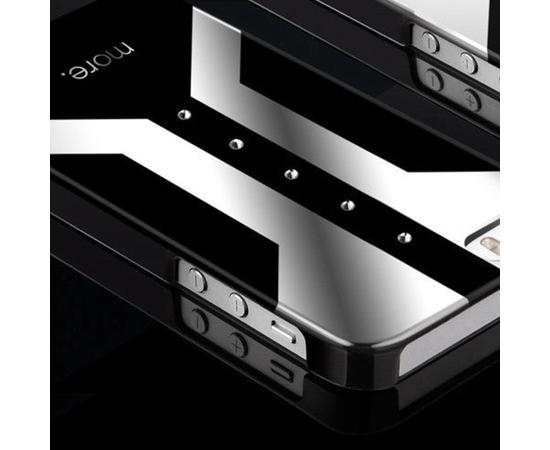 Чехол для iPhone 5/5S/SE More Vertex Lumina Series (Herman/Mercury Silver), Цвет: Чёрный/Белый/Белый, Размер: S (Small — маленький), фото , изображение 2