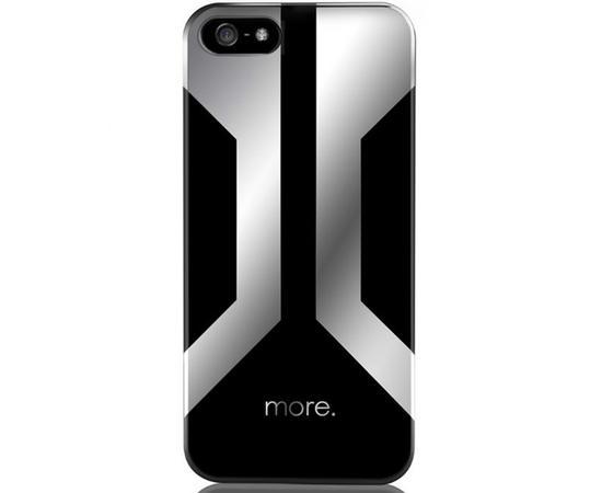 Чехол для iPhone 5/5S/SE More Vertex Lumina Series (Herman/Mercury Silver), Цвет: Чёрный/Белый/Белый, Размер: S (Small — маленький), фото
