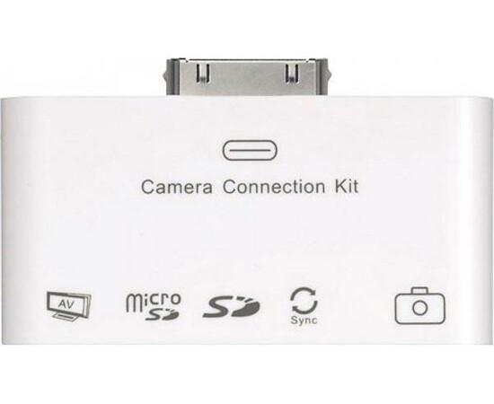 Переходник для iPad Connection kit with AV output (White) вид спереди