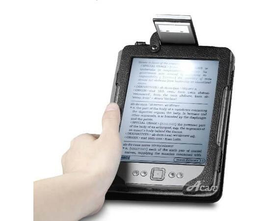 amazon_Kindle 4 Acase Leather case with backlight (Black)